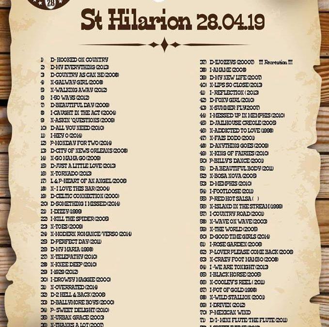 Playlist Saint Hilarion 28 Avril 2019